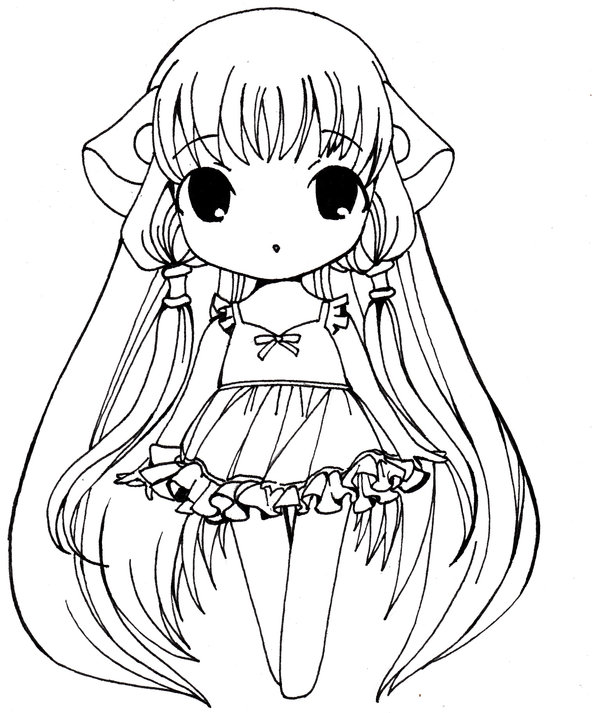 Tags: Anime, CLAMP, Chobits, Chii, Coloring Page