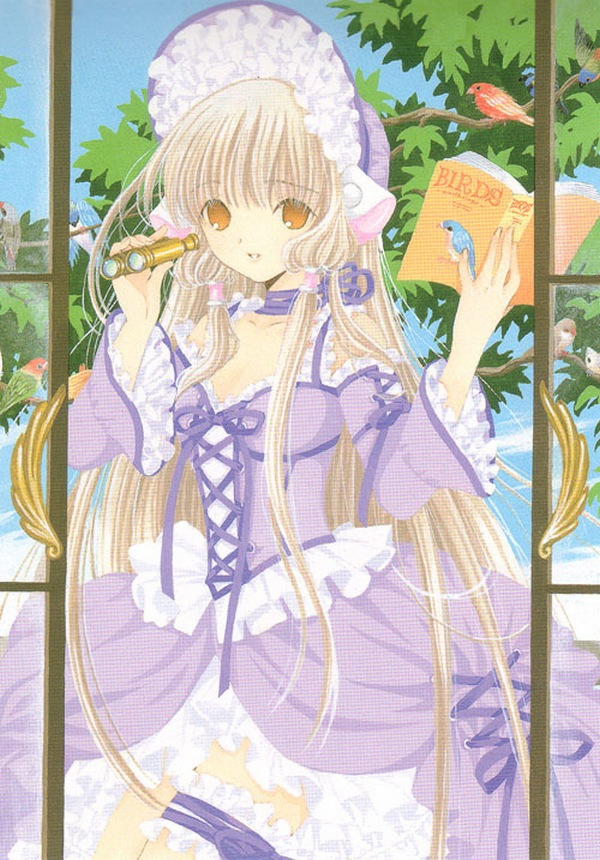 Tags: Anime, Chobits, Your Eyes Only, Chii, Poke Bonnet, Binoculars, Mobile Wallpaper