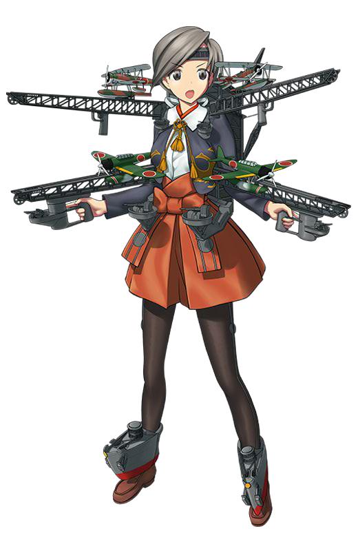 Tags: Anime, Nijiiro Ink, Kadokawa Games, Kantai Collection, Chitose (Kantai Collection), PNG Conversion, Official Art