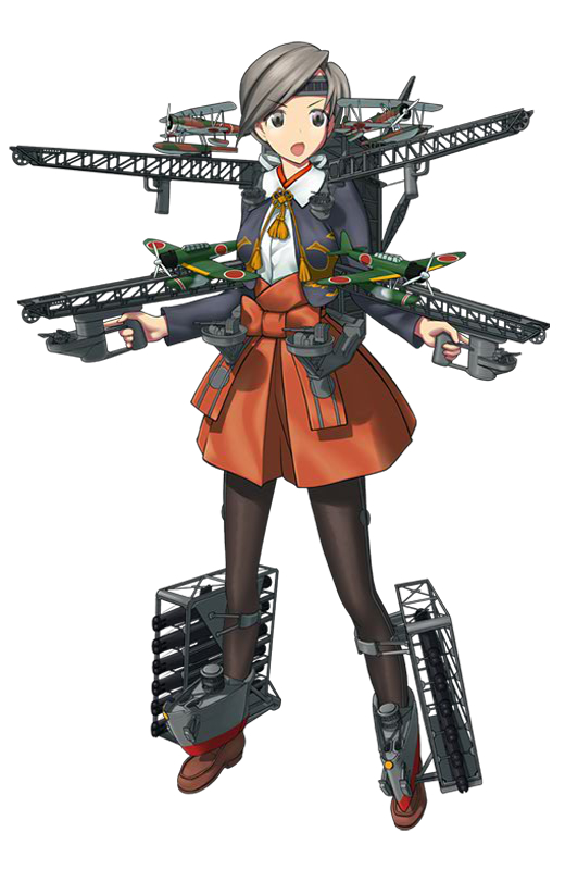 Tags: Anime, Nijiiro Ink, Kadokawa Games, Kantai Collection, Chitose (Kantai Collection), PNG Conversion, Official Art