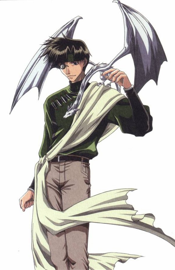 Tags: Anime, Saiyuki, Hakuryûu (Saiyuki), Cho Hakkai, Mini Dragon, Official Art