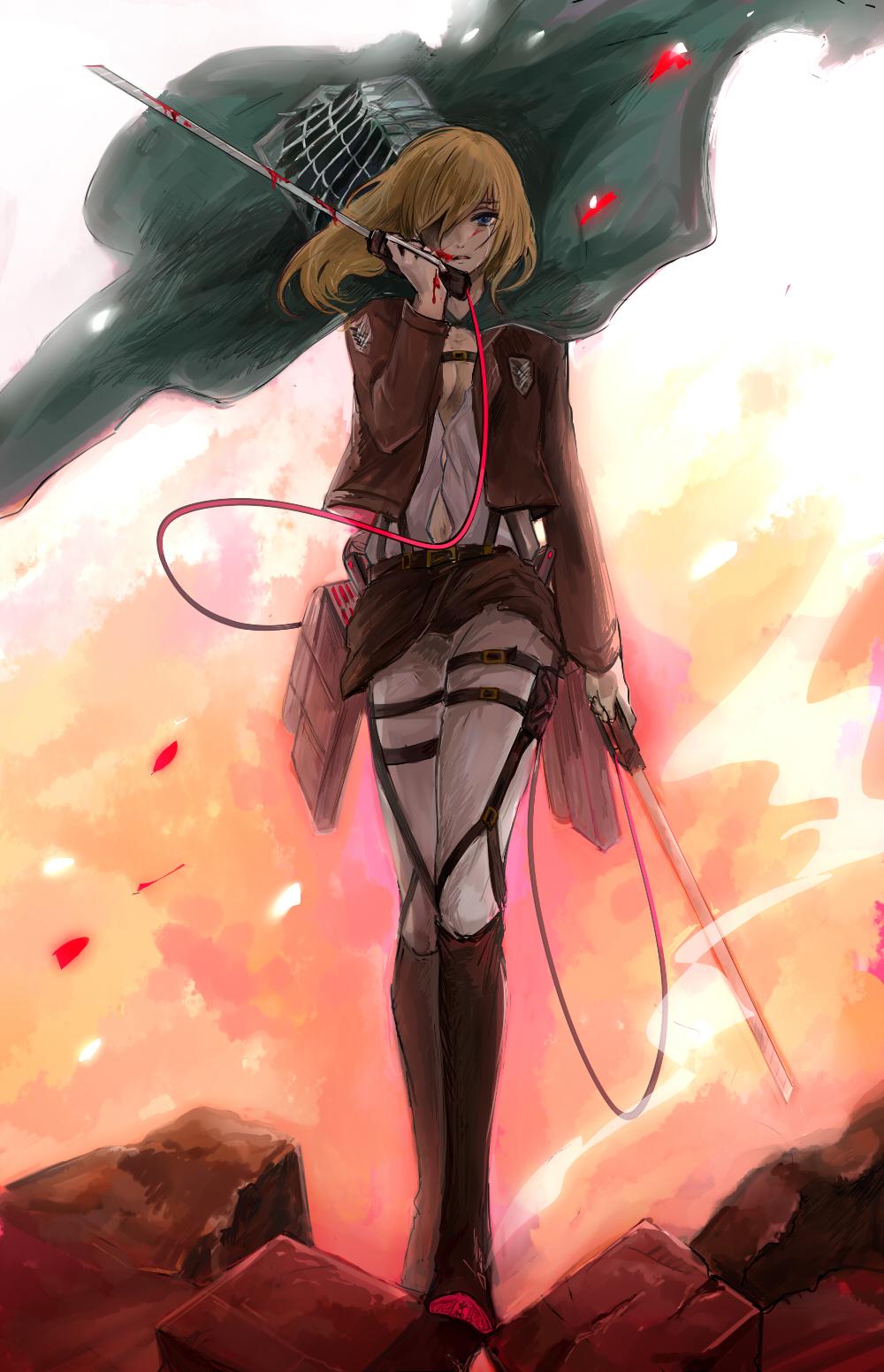 Christa Renz Attack On Titan Mobile Wallpaper 1600444 Zerochan Anime Image Board