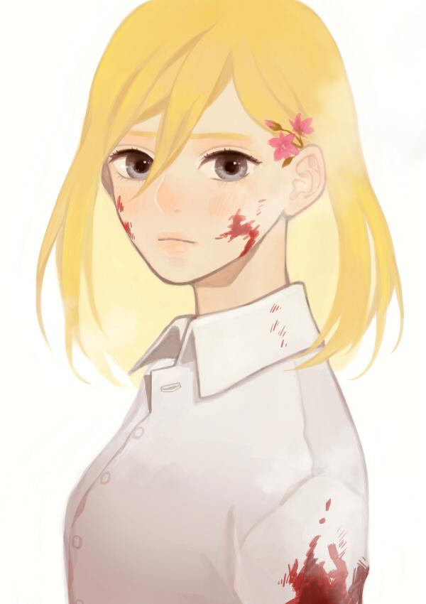 Tags: Anime, yoonmi, Attack on Titan, Christa Renz, Pixiv, Fanart, Tumblr, Mobile Wallpaper, Fanart From Pixiv, PNG Conversion, Historia Reiss