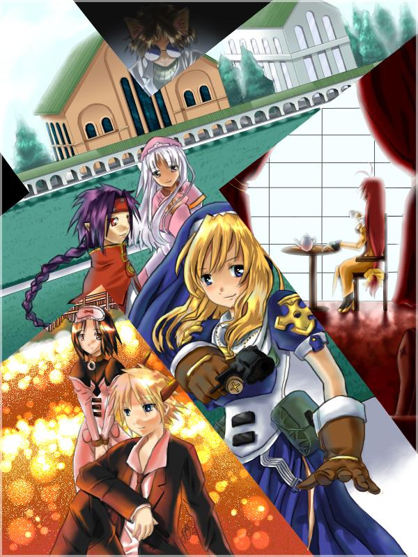 Tags: Anime, Chrno Crusade, Shader, Azmaria Hendric, Florette Harvenheit, Chrno, Joshua Christopher, Rosette Christopher
