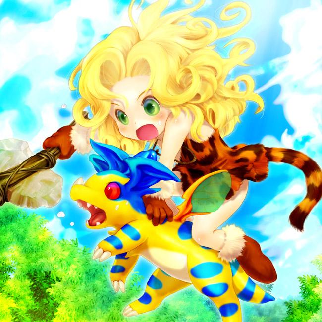 Tags: Anime, Tetetoroort, SQUARE ENIX, Chrono Cross, Leah (Chrono Cross), Draggy (Chrono Cross), Pixiv, Fanart