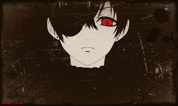 Tags: Anime, SQUARE ENIX, Kuroshitsuji, Ciel Phantomhive (Demon), Ciel Phantomhive, Spot Color, Glaring