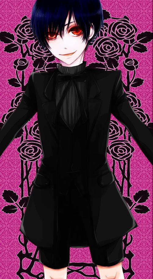 Tags: Anime, SQUARE ENIX, Kuroshitsuji, Ciel Phantomhive (Demon), Ciel Phantomhive, Mobile Wallpaper, Fanart