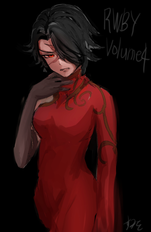 Tags: Anime, Sumio, RWBY, Cinder Fall, Asymmetrical Clothing, PNG Conversion, Fanart, Tumblr, Mobile Wallpaper