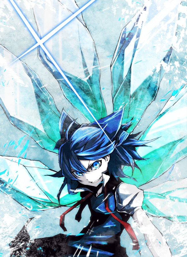 Tags: Anime, Pizaya, Touhou, Cirno, Cold Colors, Mobile Wallpaper