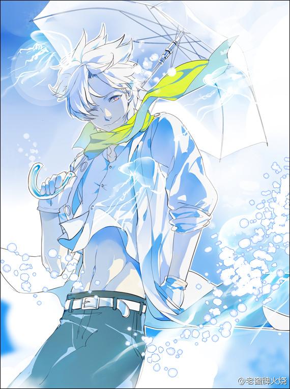 Tags: Anime, Pixiv Id 909965, DRAMAtical Murder, Clear (DMMd), Pixiv, Fanart