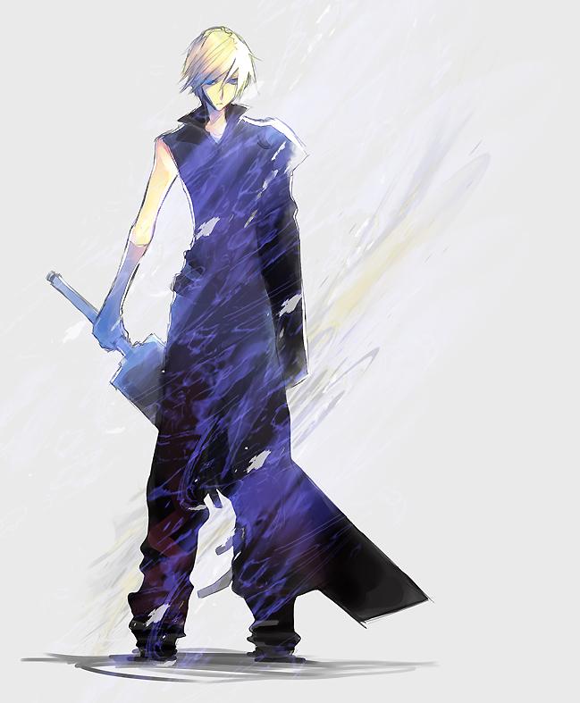 Tags: Anime, Final Fantasy VII, Cloud Strife, Buster Sword