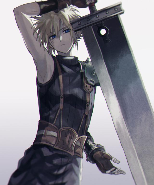 Tags: Anime, Pixiv Id 6084786, Final Fantasy VII, Cloud Strife, Fanart, Fanart From Pixiv, Pixiv