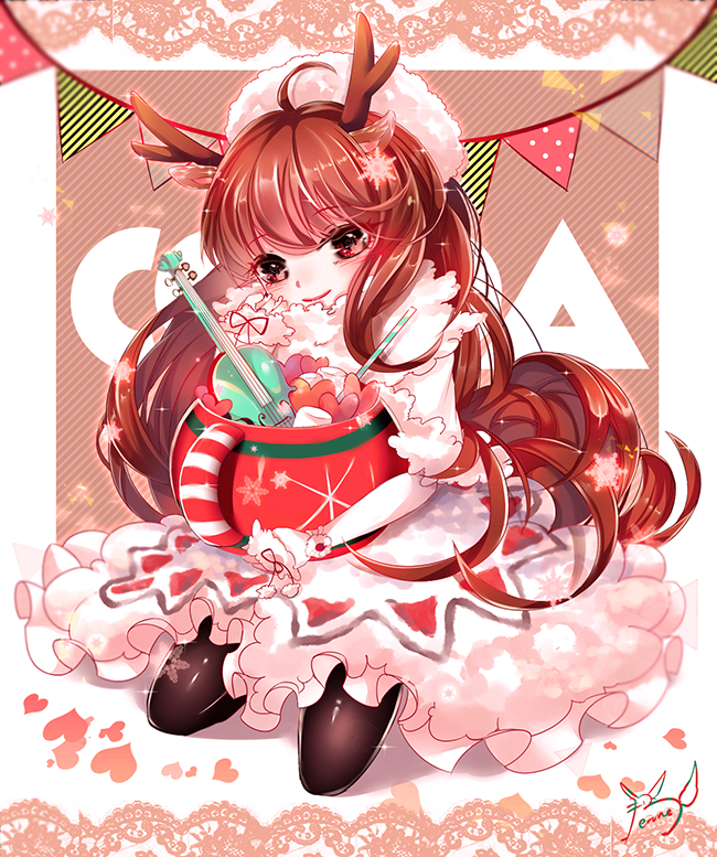 Tags: Anime, Rain Road, Cookie Run, Cocoa Cookie, Straw, Marshmallow, Fanart, Fanart From Pixiv, Pixiv