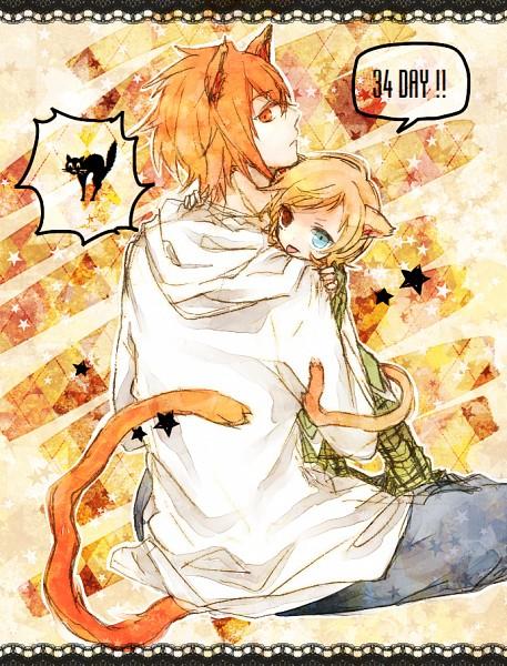 Tags: Anime, Pixiv Id 2127464, Code:Breaker, Tenpouin Yuuki, Fujiwara Toki, Stars Background, :P