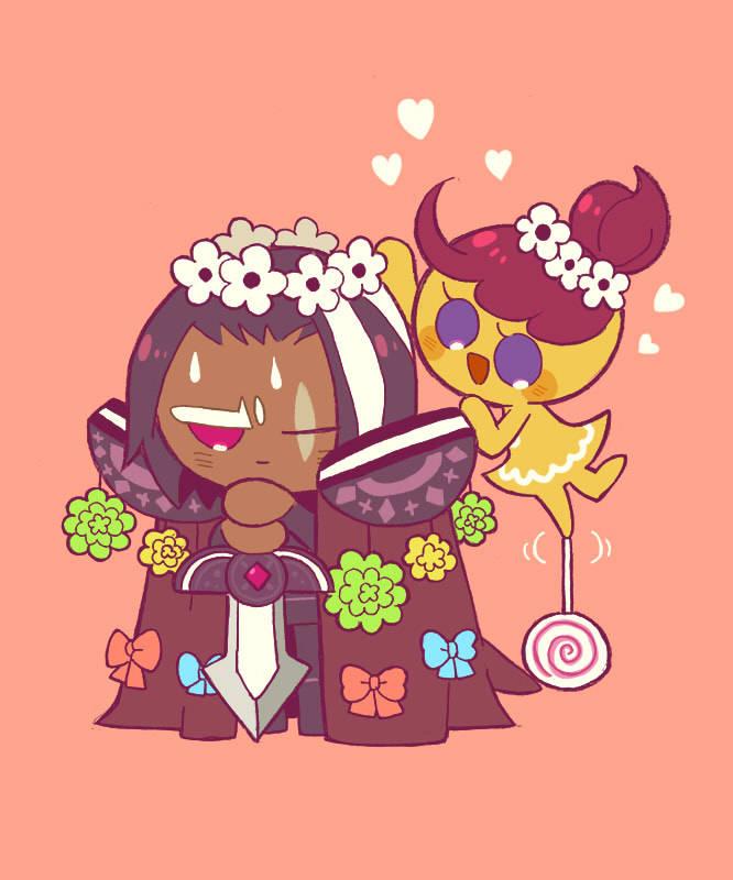 Tags: Anime, Misaki-omoomochiii, Cookie Run: OvenBreak, Cookie Run, GingerBright, Dark Choco Cookie, Tumblr, Fanart, Fanart From Tumblr