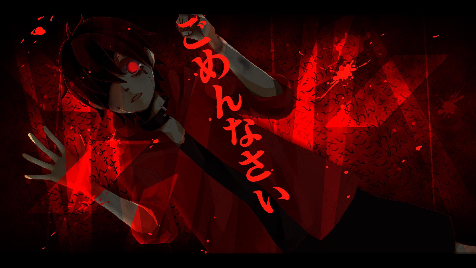 Кровавые картинки на рабочий стол аниме
