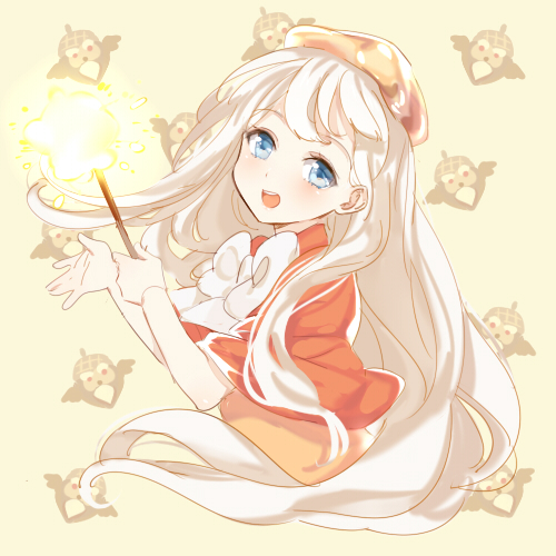 Tags: Anime, mery (dpqpqp550), Cookie Run, Cream Puff Cookie, Owlcorn, Yellow Headwear, Yellow Hat, Orange Outerwear, Acorn, Fanart, PNG Conversion, Twitter