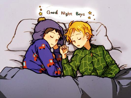 Tags: Anime, Pixiv Id 5577563, South Park, Craig Tucker, Tweek Tweak, Text: Good Night, Good Night, Fanart From Pixiv, Fanart, Requested Upload, Pixiv, Creek (South Park)