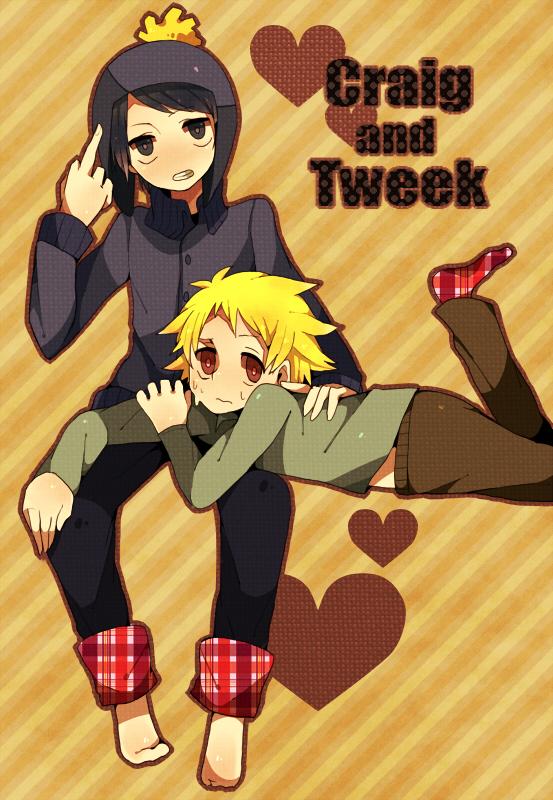 Tags: Anime, Pixiv Id 3371124, South Park, Craig Tucker, Tweek Tweak, Text: Couple Name, Pixiv, Mobile Wallpaper, Creek (South Park)