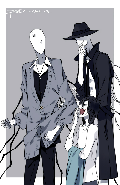 Tags: Anime, PSD, Sexual Offenderman, Jeff the Killer, The Slender Man, Yawn, Trenderman, Faceless, Fanart From Pixiv, Fanart, Creepypasta, Pixiv, Mobile Wallpaper