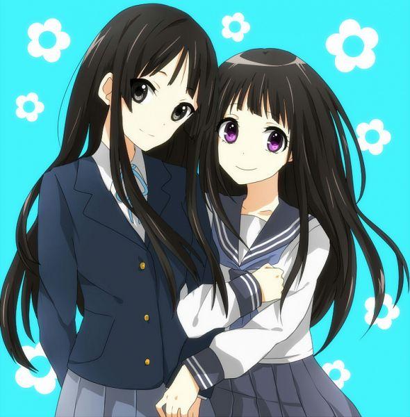 Tags: Anime, Pixiv Id 1464883, Hyouka, K-ON!, Akiyama Mio, Chitanda Eru