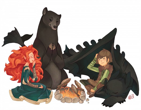 Tags: Anime, Bear, Dragon, Disney, How to Train Your Dragon, Toothless, Hiccup Horrendous Haddock III