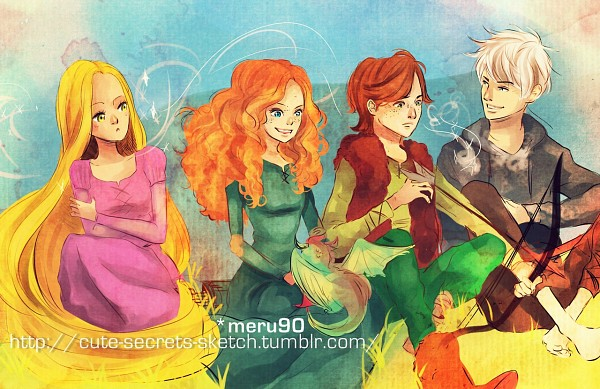 Tags: Anime, Arrow, Dragon, Bow (weapon), Freckles, Rapunzel, Archery