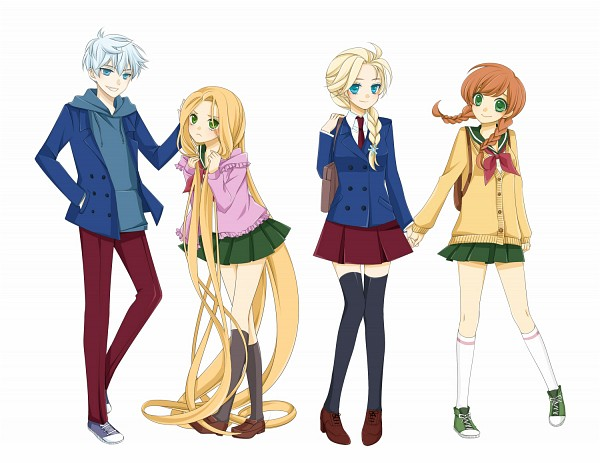 Tags: Anime, Knee High Socks, Rapunzel, Twin Braids, Hand In Pocket, Hand On Hip, Disney