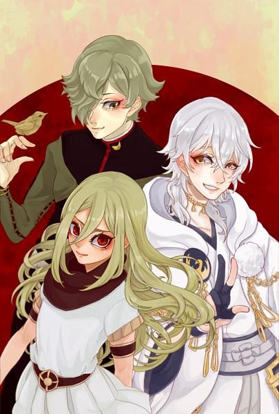 Tags: Anime, Pixiv Id 750647, Touken Ranbu, Inazuma Eleven: Ares no Tenbin, Inazuma Eleven, Afuro Terumi, Uguisumaru