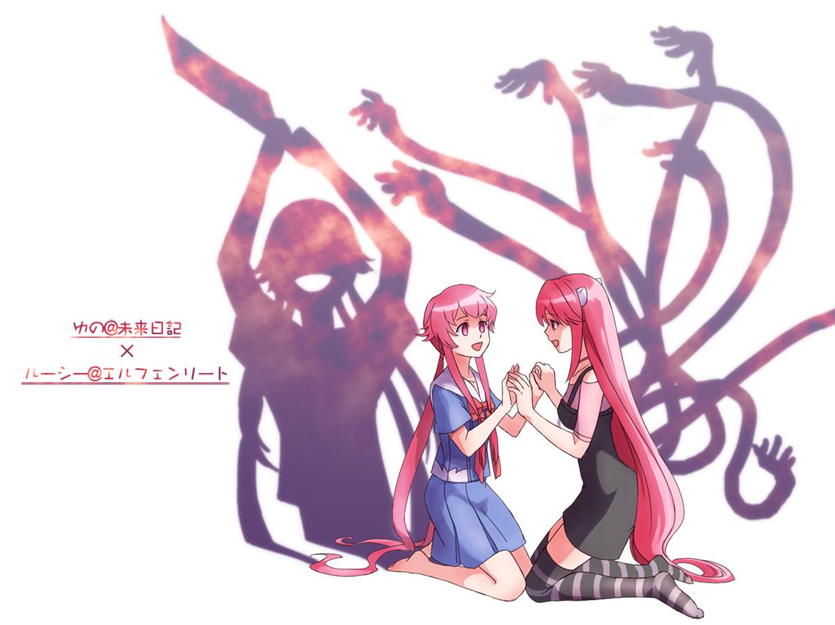 Mirai Nikki Gasai Yuno Yandere Anime Anime Girls: Cross-Over/#1034257