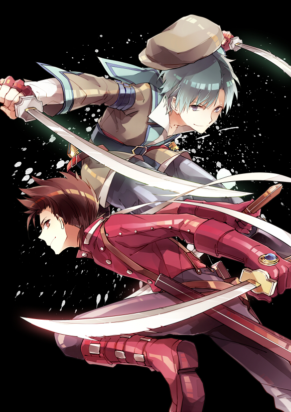 Tags: Anime, Himishiro, Tales of Innocence, Tales of Symphonia, Spada Belforma, Lloyd Irving, Mobile Wallpaper