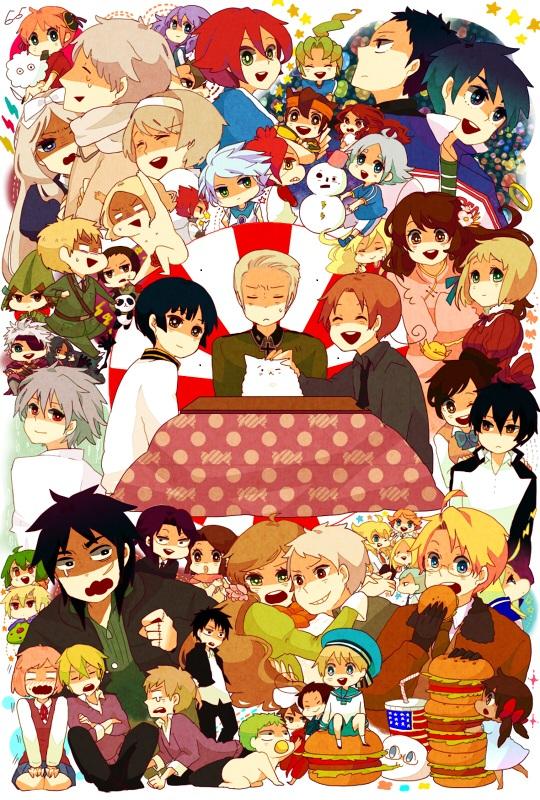 Tags: Anime, Meiko (Pixiv1232065), Gintama, Axis Powers: Hetalia, Neon Genesis Evangelion, Katekyo Hitman REBORN!, Inazuma Eleven, Pokémon, Inazuma Eleven GO, Sengoku Basara, Hibird, South Korea, Hong Kong