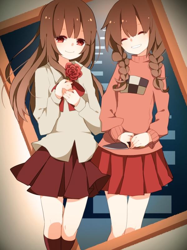 Tags: Anime, Komadori Ui, Yume Nikki, Ib, Madotsuki, Ib (Character), Pixiv, Fanart, Fanart From Pixiv