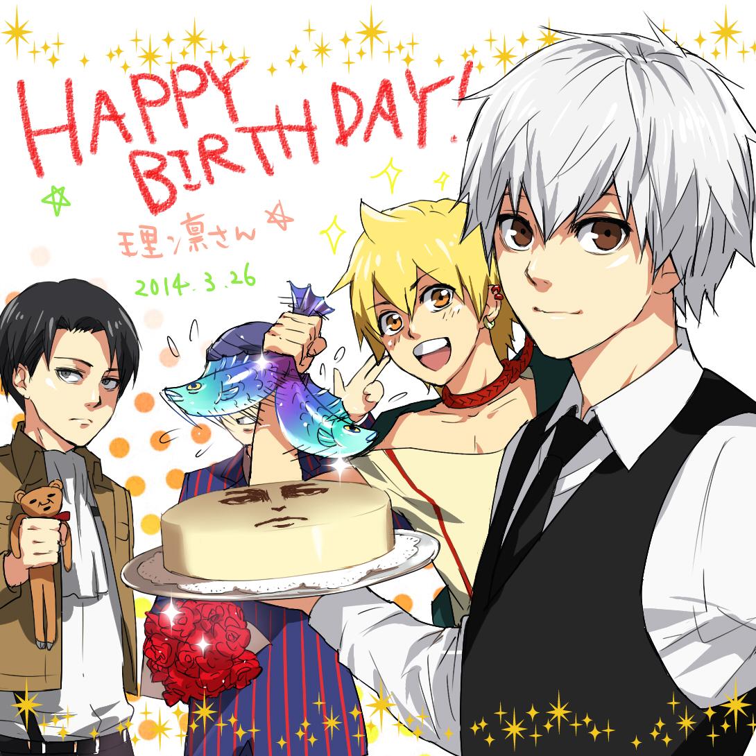 Levi Attack On Titan Text Happy Birthday Zerochan Anime Image Board