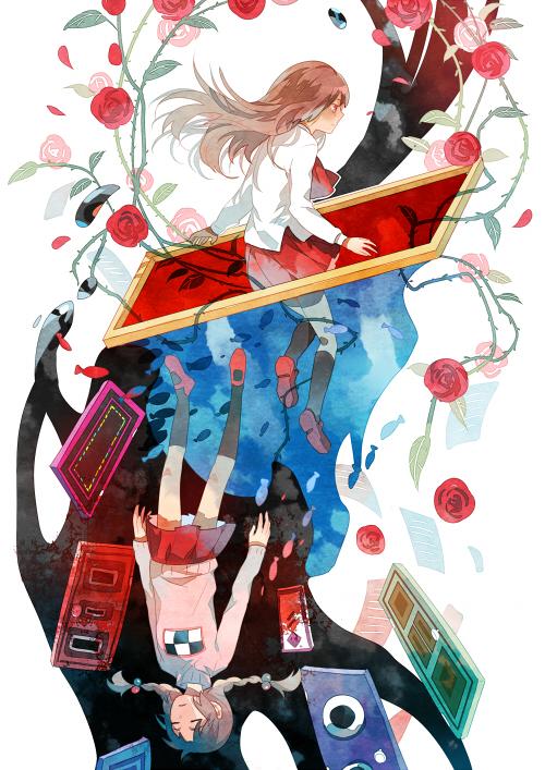 Tags: Anime, Getiao, Yume Nikki, Ib, Ib (Character), Madotsuki, Mobile Wallpaper
