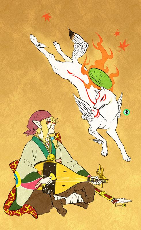 Tags: Anime, Citron619077, Mononoke, Okami, Issun-Boshi, Kusuriuri, Amaterasu