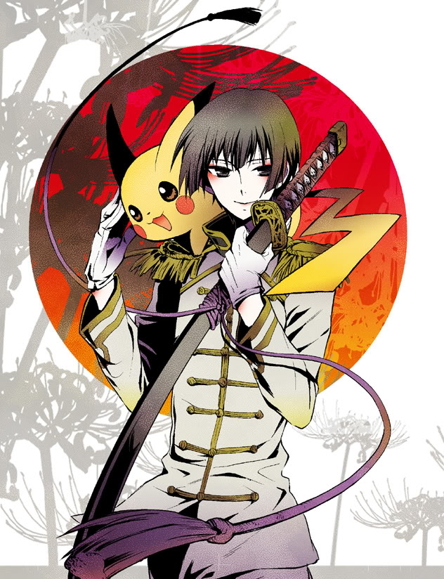 Tags: Anime, Axis Powers: Hetalia, Pokémon, Pikachu, Japan, Artist Request