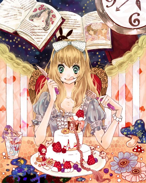 Tags: Anime, Pixiv Id 472459, Alice in Wonderland, Little Mermaid, Rapunzel, Red Riding Hood, Three Little Pigs, VOCALOID, Hatsune Miku, Alice (Alice in Wonderland)