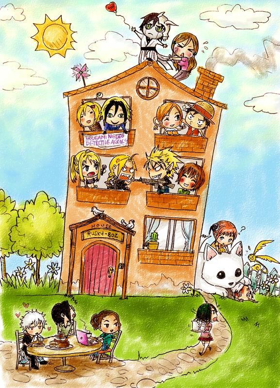 Tags: Anime, Rusky-boz, SQUARE ENIX, ONE PIECE, Gintama, D.Gray-man, Fullmetal Alchemist, Majin Tantei Nougami Neuro, BLEACH, Eyeshield 21, Monkey D. Luffy, Allen Walker, Nougami Neuro