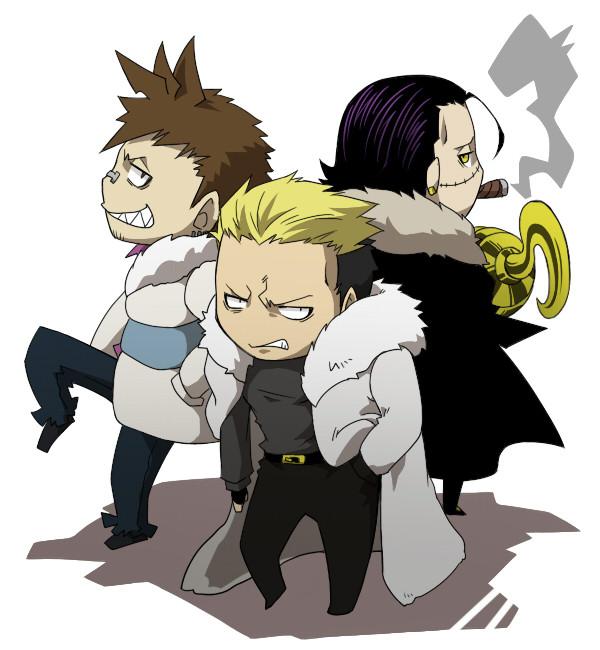Tags: Anime, SQUARE ENIX, SNK Playmore, SOUL EATER, ONE PIECE, Fatal Fury, The King of Fighters, Ryuji Yamazaki, Sir Crocodile, Giriko, Cigar, Hook (Hand), Fanart