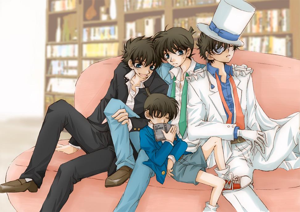 Detective conan shinichi and kaito kid
