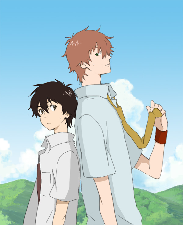 Tags: Anime, Mameko, Summer Wars, Toki wo Kakeru Shoujo, Mamiya Chiaki, Koiso Kenji, Fanart, Pixiv