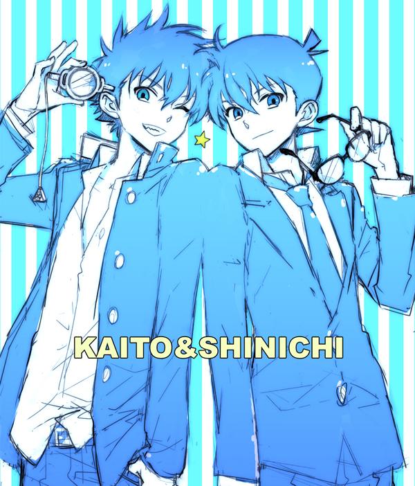 Tags: Anime, Ayao77, Meitantei Conan, Magic Kaito, Kuroba Kaito, Kudou Shinichi, Fanart, Pixiv