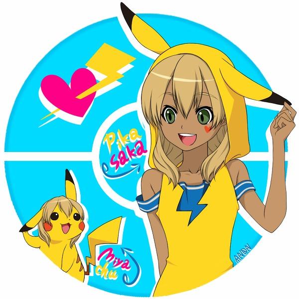 Tags: Anime, Pixiv Id 1960530, Pokémon, Inazuma Eleven, Pikachu, Miyasaka Ryou, Miyasaka Ryou (Cosplay), Pikachu (Cosplay), Fanart