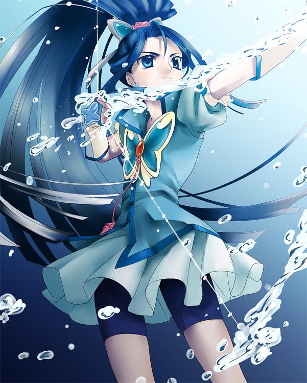 Tags: Anime, Tomiwo, Yes! Precure 5, Cure Aqua, Minazuki Karen, Fanart From Pixiv, Fanart, Pixiv