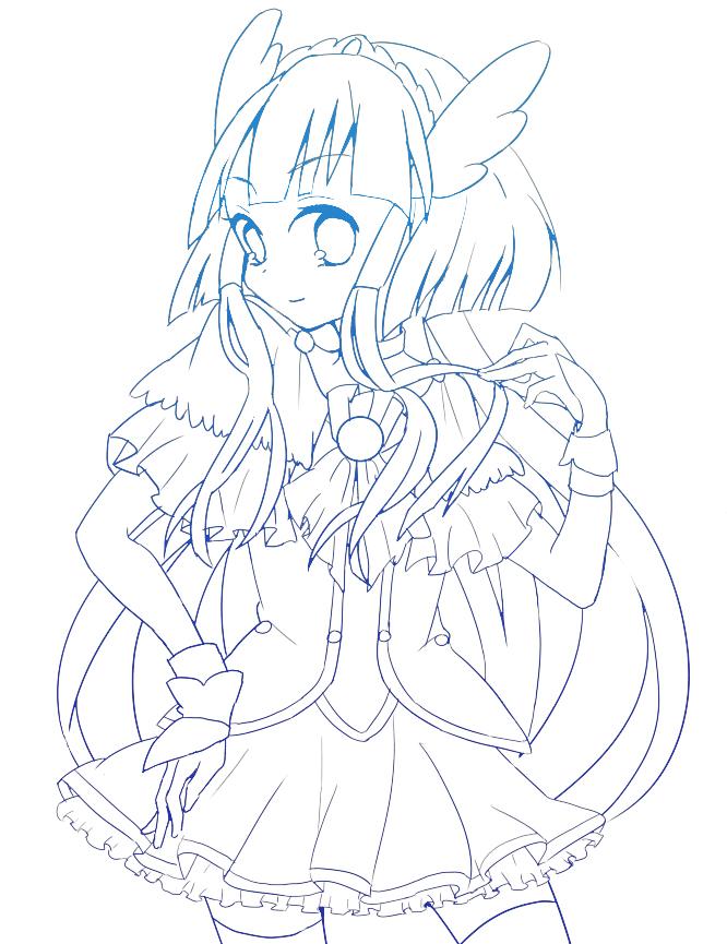 Zerochan Lineart : Cure beauty aoki reika image  zerochan anime
