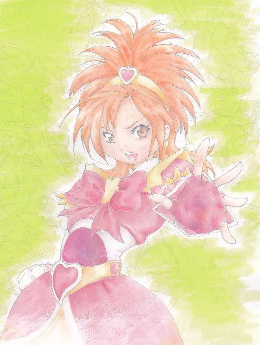 Tags: Anime, Pixiv Id 1722851, Futari wa Precure Splash Star, Cure Bloom, Hyuuga Saki, Pixiv, Fanart From Pixiv, Fanart