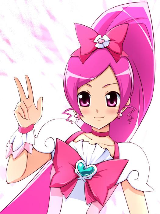 Tags: Anime, Kumataka, Heartcatch Precure!, Hanasaki Tsubomi, Cure Blossom, Pixiv, Fanart From Pixiv, Fanart