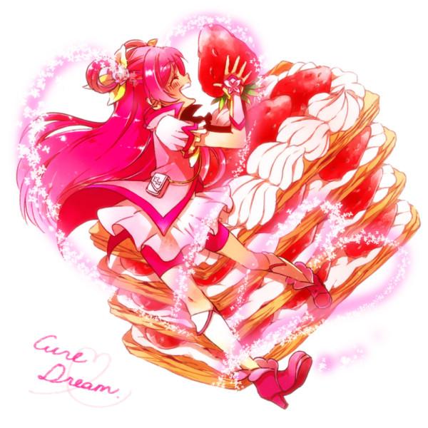 Tags: Anime, Pixiv Id 1781504, Yes! Precure 5, Yumehara Nozomi, Cure Dream, Cream, Pink Shorts, Twitter, Fanart