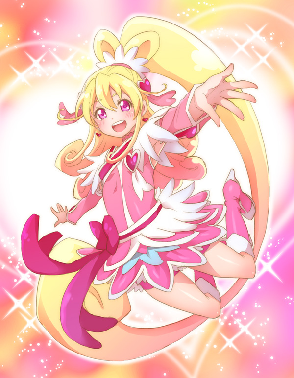 Tags: Anime, Pixiv Id 1183761, Dokidoki! Precure, Cure Heart, Aida Mana, Pink Shorts, Fanart, Fanart From Pixiv, Pixiv